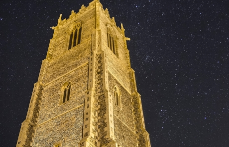 Winterton Church at Night