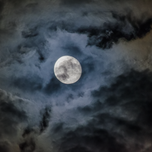 Moon with cloud cover