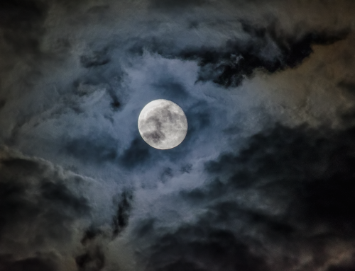 The Moon Under Cloud Cover