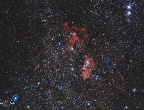 Widefield IC1805 and IC1848 – The Heart and Soul Nebulae Nikon D7000