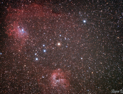 "IC 405 ""Flaming Star Nebula"" – IC 410 – NGC 1893 Budget Astrophotography 135mm Lens"