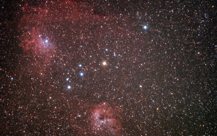 IC 405 Flaming Star Nebula IC 410 NGC 1893